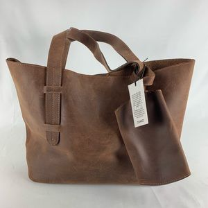 Claire Chase Glasses Tote Brown Bag